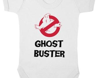 GHOSTBUSTER  -  New Girls/Boys Baby Bodysuit/Baby Grow/Onesie/Vest/Romper, Newborn Gift, Baby Shower, Christening Present, Ghostbusters 2016