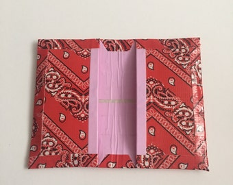 Bandana and baby pink business card holder