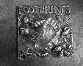 Footprints in the Sand Wall Plaque/Paper Weight