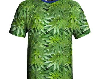 Cannabis Print Eco-friendly T-shirt