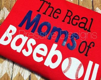 The Real Moms of Baseball Womens Shirt