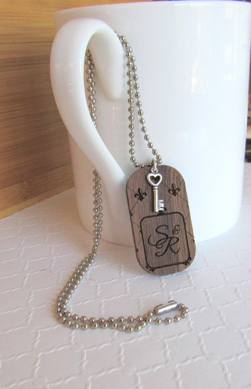 fleur de lis mens or womens dog tag necklace personalized. Black Bedroom Furniture Sets. Home Design Ideas