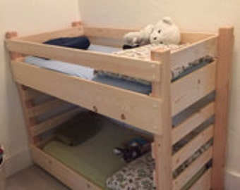 Toddler Bunk Bed Do It Yourself (DIY) Plans (fits A Crib Size Mattress