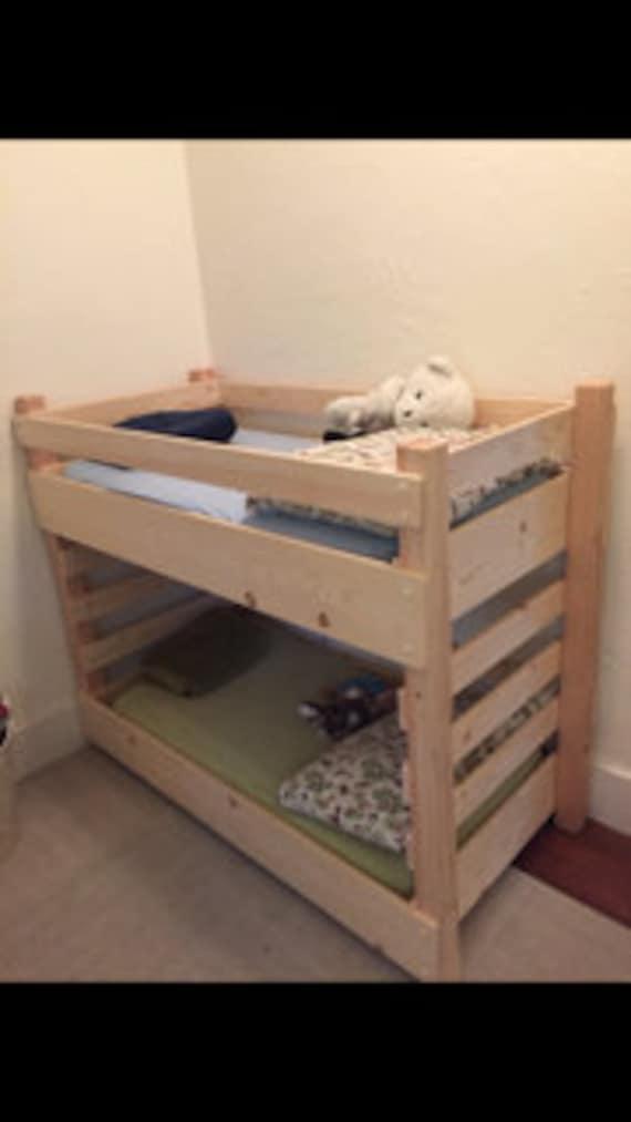 toddler bunk bed diy plans crib size mattress. Black Bedroom Furniture Sets. Home Design Ideas