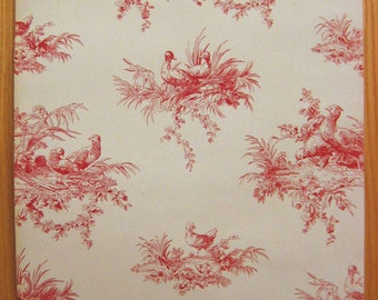Charming Antique 19th C. Toile Wallpaper (9376)