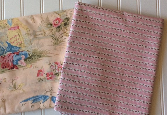 Marcus Brothers Fabric By The Yard Gingham Gardens Ticking