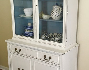 SOLD Beautifully Hand Painted China Hutch