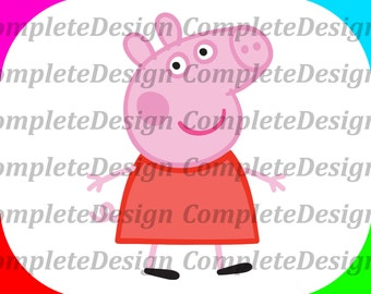 Peppa Pig Inspired Print Cut Files svg png dxf Instant Downloads