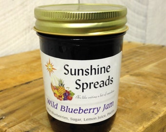Wild Blueberry Jam, 8 Ounce Jar, Amish Made