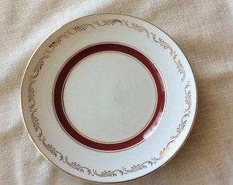 Vintage Ridgway fine china Bordeaux White Mist dessert side Plate dinnerware