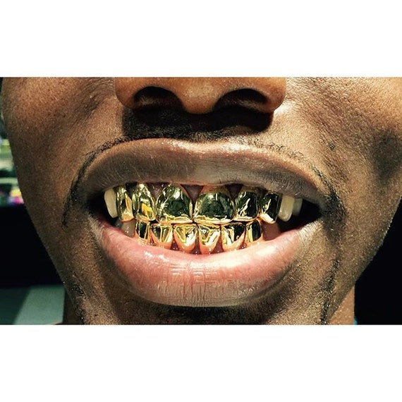 10k gold grillz for teeth gold 12 teeth deep cut perm look top