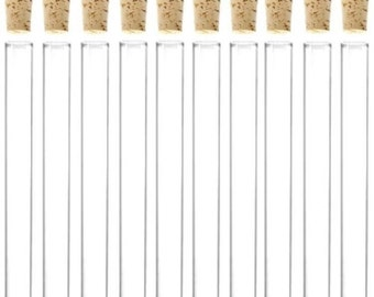 25 x 34ml Plastic Test Tubes With Corks / Party Favours