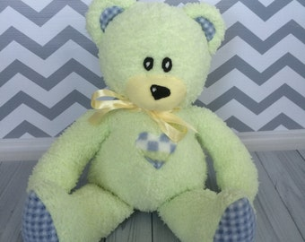 Teddy Bear - Green Teddy Bear - Minky Teddy Bear