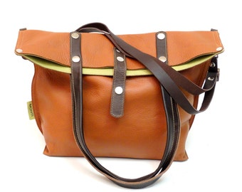 Leather bag Brown