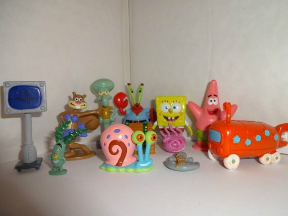 Mister A Gift Spongebob Squarepants set of 12 Plastic Cake ...