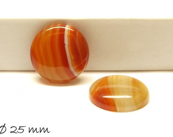 1 PCs cabochon, red agate, 25 mm