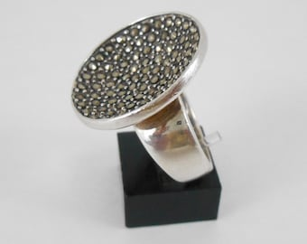 Ring Sterling Silver With Marcasites