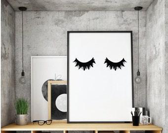 Eyelash, Lashes, Makeup Print,  Makeup Decor, Eye Lashes Print, Make up Printables, Makeup Decor Prints,Instant Digital Download