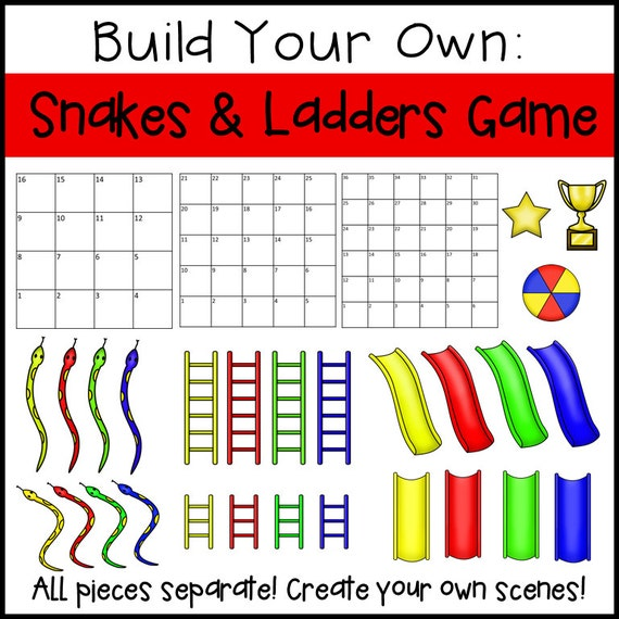 Build your own snakes and ladders board game from allisonfors on etsy studio Design your own bathroom games