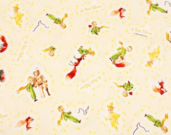 "The Little Prince(Le Petit Prince)  Fabric made in Japan / FQ 45cm by 53cm or 18"" by 21"""