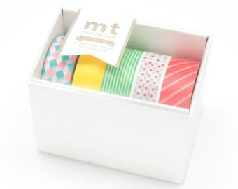 MT Washi Masking Tape Gift Box Pop 15mm 10m, 5 Piece set MT05G001