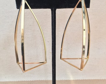 Modern 3D Pyramid Earrings