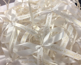 50 Name Ribbon Bows