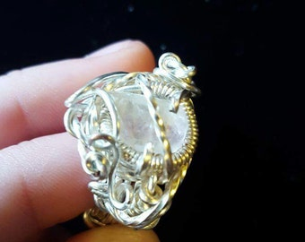 Yellow Florite Ring size 7