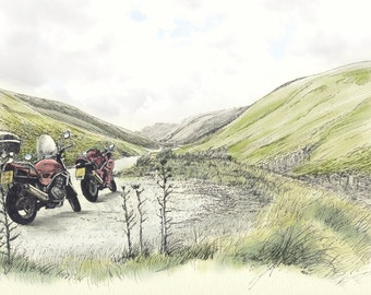 The Mountain Pass by Motorbike