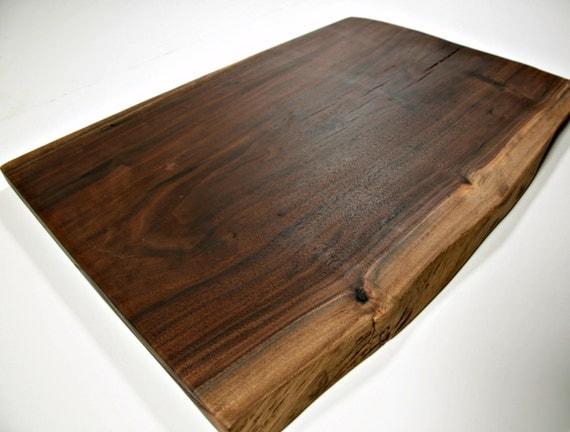 Extra large wood cutting board live edge walnut slab