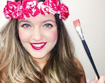Painting the Roses Red Wonderland inspired flower crown