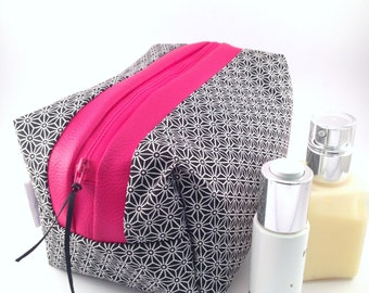 Toilet bag japanese stars Pink Black