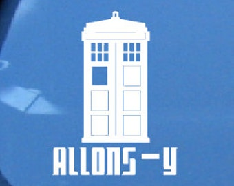 Doctor Who Allons-Y TARDIS Car Decal