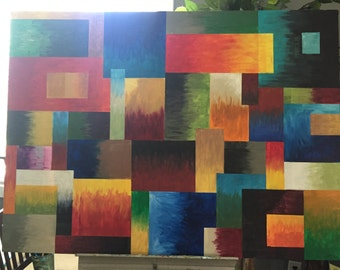 Large original abstract acrylic painting (34x46)