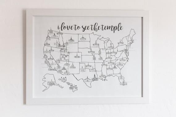 lds temple map