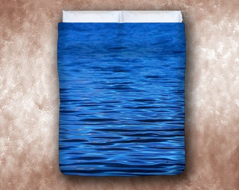 Night Waves Bed Duvet Cover