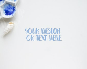 Seashell and Palette on a White Background / Stock Photography / Product Mockup / High Res File