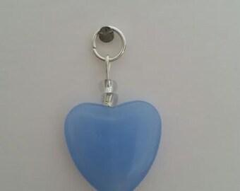 Blue heart charm