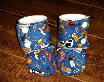 Cowboy/Cowgirl Stay On Bootie/Slippers 3-6 month