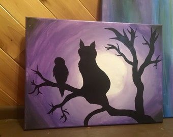 Cat and Tree Painting