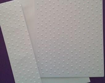 Embossed Polka Dot Set of 5 Cards and Envelopes