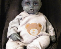 Horrifying  Zombie Baby Dark Doll