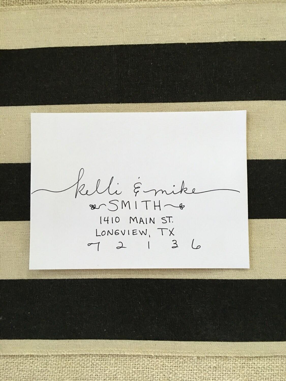 Wedding Calligraphy Envelopes Custom Handwritten