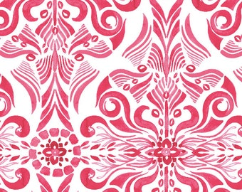 Watercolor Damask Fabric designed by Jessika Neira from WeaveUp