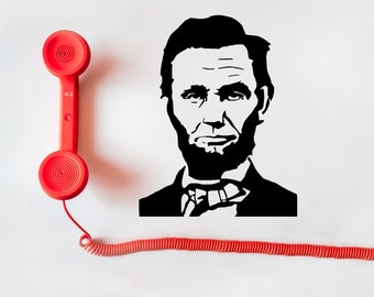 Abe Lincoln Decal, Abe Lincoln Sticker, Abe Lincoln, Honest Abe Decal, Honest Abe, President Lincoln Decal, President Sticker, Lincoln