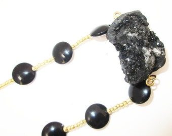 Black Natural Stone Necklace