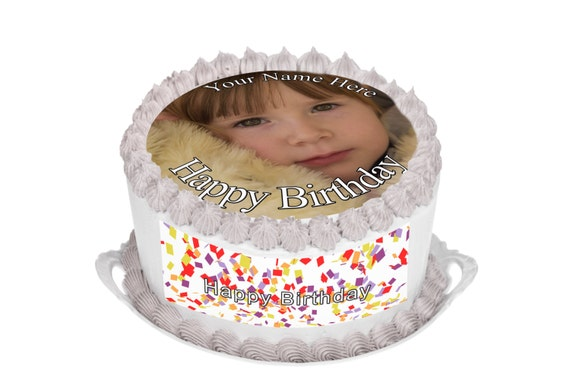 Design Your Own Sheet Cake : Your own photo Picture logo or design by SimplyCakeToppers ...
