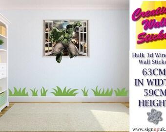 Marvel Avengers Incredible Hulk Wall Art Sticker/Decal for Kids Room w63cm x h59cm