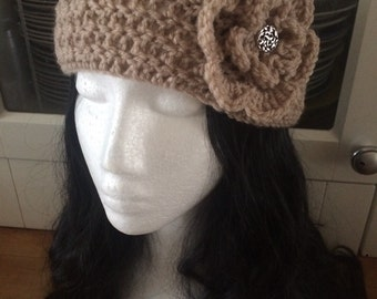 Crochet headband dreadband ear warmer festival hippie