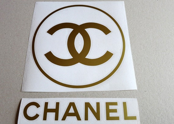chanel circle logovinyl decal by decalworldstudio on etsy